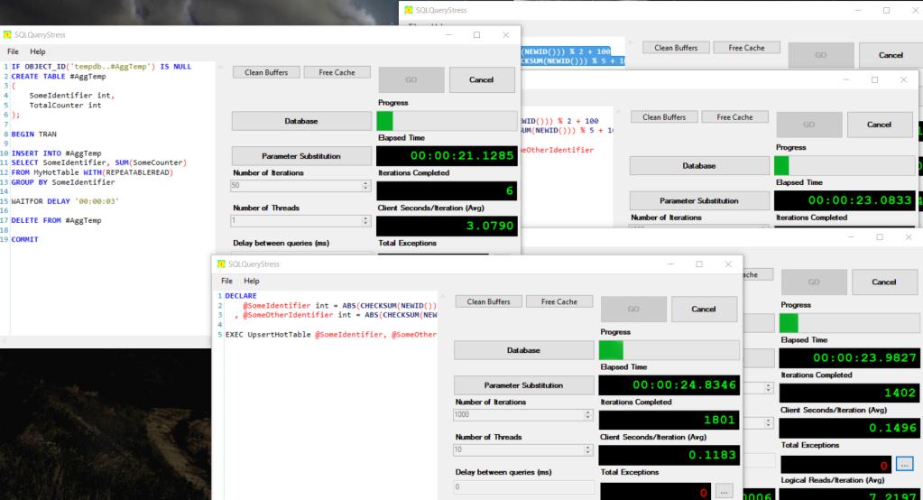 SQLQueryStress screenshot